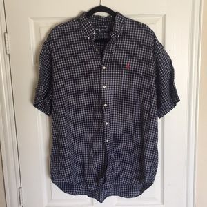 POLO RALPH LAUREN *VNTG shirt seersucker blue XL